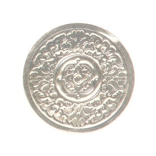 """Pack Of 500, 2"""" Diameter Large Solid Silver Medallion Embossed Round Foil Seals For Weddings, Christmas & Valentine's Day"""