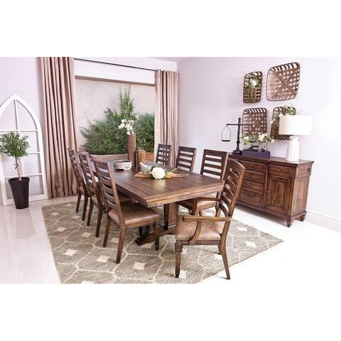 Carbon Loft Phineas Extension Leaf Vintage Dark Pine Rectangular Dining Table