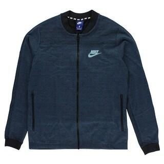 Nike Mens Sportswear AV15 Knit Jacket Blue - Blue/Black