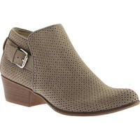 Portland Boot Company Women's Talia Perforated Ankle Bootie Stone Nubuck Polyurethane