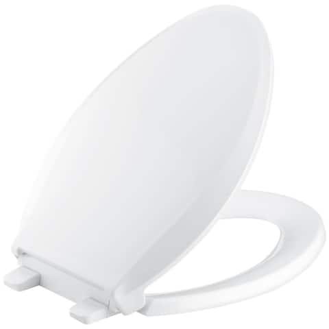 Kohler K-7671 Cachet Elongated Closed Toilet Seat with Soft Close and - White