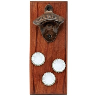 Sharper Image 3345002 Bottle Opener Cap Catcher, Brown