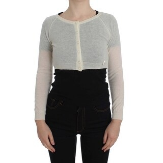 Ermanno Scervino Ermanno Scervino White Wool Blend Sweater Cardigan