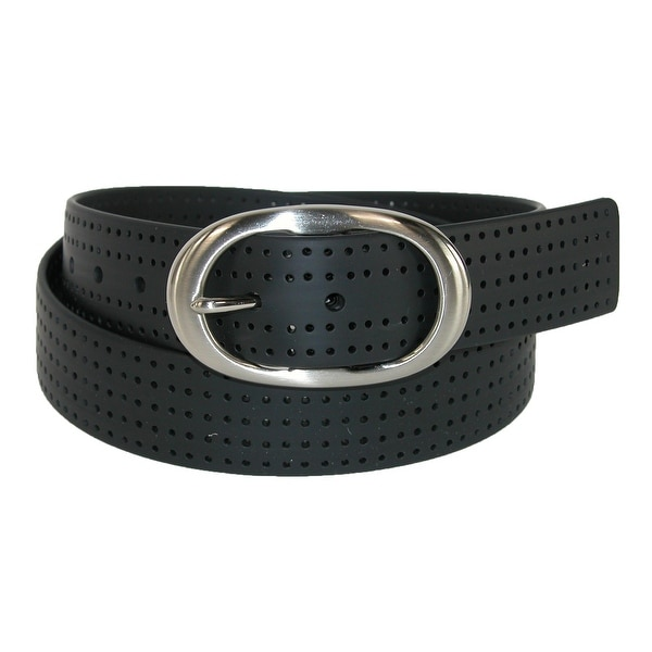 PGA TOUR Women's Silicone Perforated Golf Belt with Center Bar Buckle