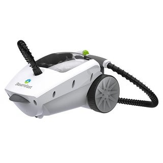 SteamFast SF-375W Deluxe Canister Steam Cleaner - White/Grey