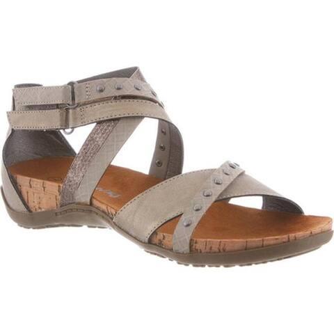 f787231741e6 Bearpaw Women s Julianna Studded Cork Sandal Pewter Synthetic