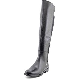 Anne Klein City Gurl   Round Toe Leather  Knee High Boot