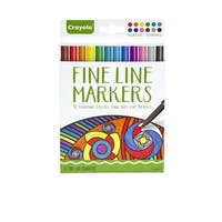 Crayola Aged Up Fine Line Markers, Assorted Classic Colors, Set of 12
