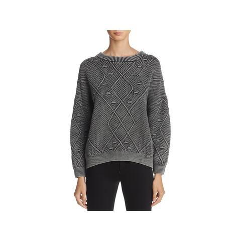 Rails Womens Lisette Sweater Ribbed Trim Crew Neck - Vintage Black - M