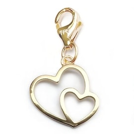 Julieta Jewelry Double Heart Outline Clip-On Charm