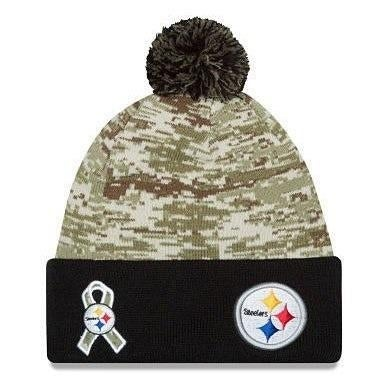 Shop New Era NFL 2015 Salute Knit Pom Beanie Hat - Pittsburgh Steelers -  Free Shipping On Orders Over  45 - Overstock.com - 18617400 6327641ff