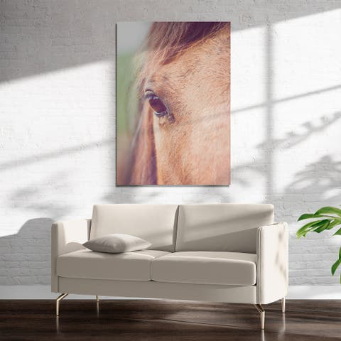 BROWN EYED GIRL Art on Acrylic By Ann Hudec