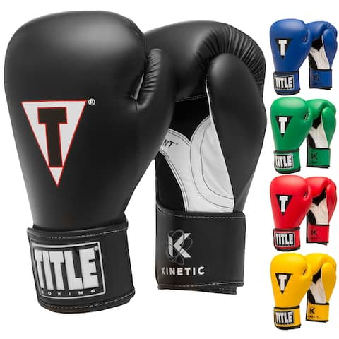 Title Boxing Kinetic Aerovent Palm Hook and Loop Training Gloves