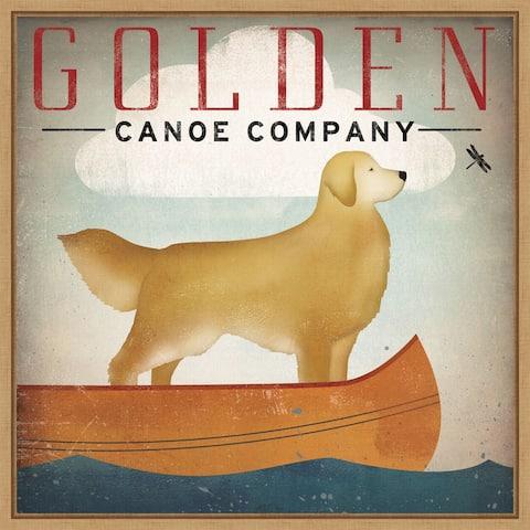 Golden Dog Canoe Co (right face) by Ryan Fowler Framed Canvas Art