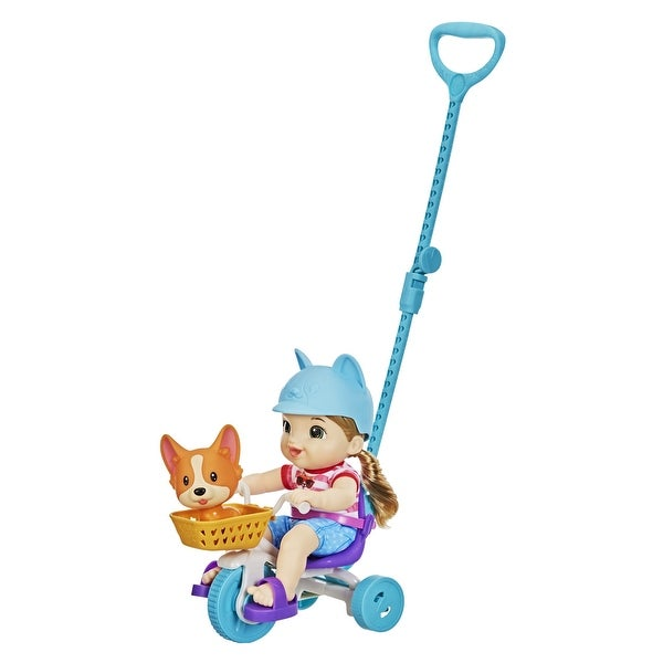 Littles By Baby Alive, Roll 'N Pedal Trike, Doll And Tricycle, 5 Accessories, Toy For Kids 3 Years Old And Up. Opens flyout.