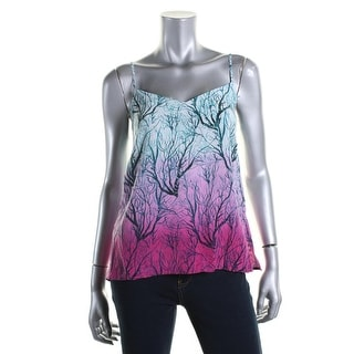 French Connection Womens Silk Printed Tank Top