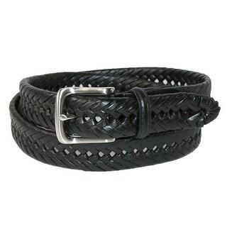 Tommy Hilfiger Men's Burnished Leather Handlaced 1 1/4 Inch Belt