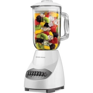 Black & Decker BL2010WG 10 Speed Glass Blender, White
