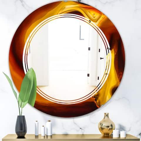 Designart 'Agate Geode Slice Macro' Modern Round or Oval Wall Mirror - Triple C