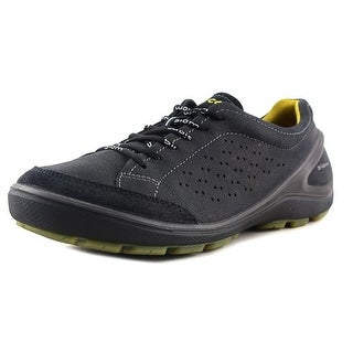 Ecco Biom Grip Round Toe Leather Sneakers