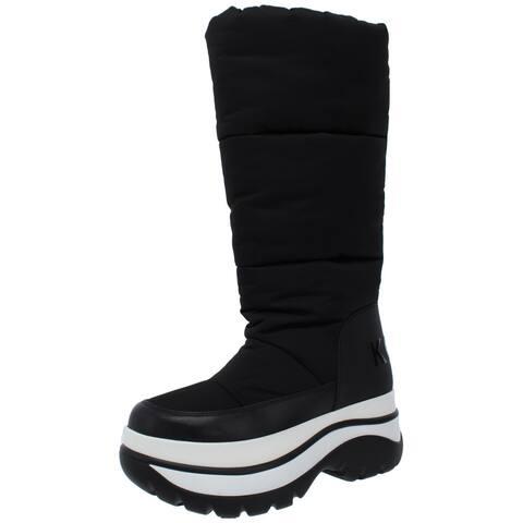 MICHAEL Michael Kors Womens Gamma Winter Boots Leather Tall