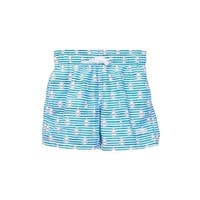 Azul Baby Boys Blue Sails Stripes Print Drawstring Swim Shorts