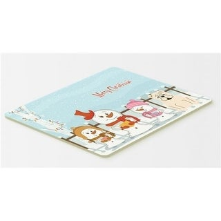 Carolines Treasures BB2454CMT Merry Christmas Carolers English Bulldog White Kitchen or Bath Mat 20 x 30
