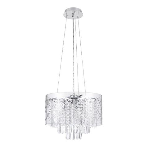 3-Light Chandelier with Crystal Beads