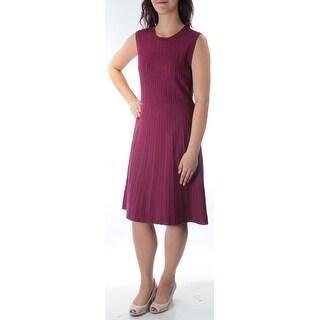 Womens Maroon Sleeveless Above The Knee Dress Size: M