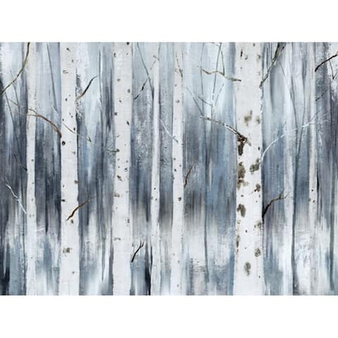Monoprice WINTER BIRCH ARTIST ENHANCED WALL ART 24inX32in SANDED TEXTURE CANVAS WITH 30% GEL