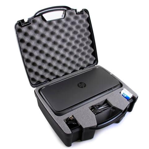 CASEMATIX TOUGH Printer Carry Case Custom Designed to fit HP Officejet 250 Wireless Mobile Printer - Black