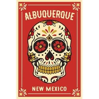 Albuquerque, NM Day of Dead Sugar Skull LP Artwork (Art Print - Multiple Sizes)