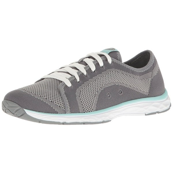 Womens Anna Knit Fabric Low Top Lace Up