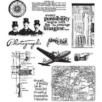 Stampers Anonymous - Tim Holtz - Cling Mounted Rubber Stamp Set - Warehouse District