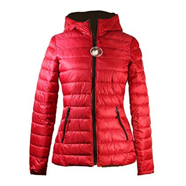 HFX Halifax Womens Red Packable Hooded Coat S. Opens flyout.
