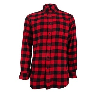 6f1a62ea Shop John Ashford Men's Big and Tall Buffalo Check Flannel Shirt (2XLT,  Ruby Red) - Ruby Red - 2xlt - Free Shipping On Orders Over $45 - Overstock  - ...