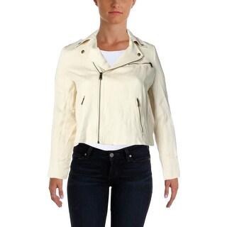 Lauren Ralph Lauren Womens Crop Blazer Linen Herringbone