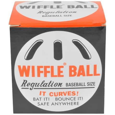 "Wiffle Ball 9"" Original Regulation Baseball Size Curve Training Plastic Ball"