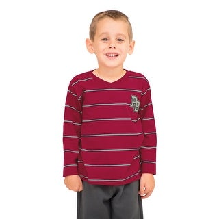 Pulla Bulla Toddler Boy Long Sleeve Striped Shirt
