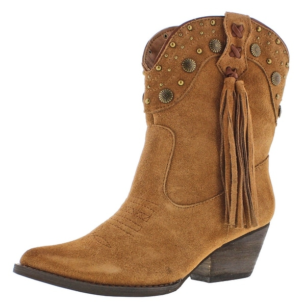 Very Volatile Waddy Women's Western Fringe Ankle Boots