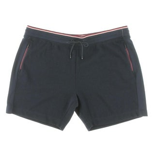 Tommy Hilfiger Mens Perforated Track Athletic Shorts