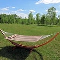 Sunnydaze Wooden Curved Arc Hammock & Hammock Stand, 13 Feet Long, 400 Pound Capacity - Thumbnail 10