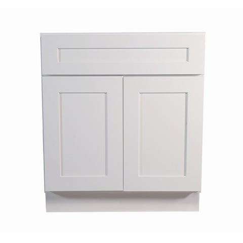 """Design House 561381 Brookings 30"""" Wide x 34-1/2"""" High Double Door Base Cabinet with Single Drawer - White"""