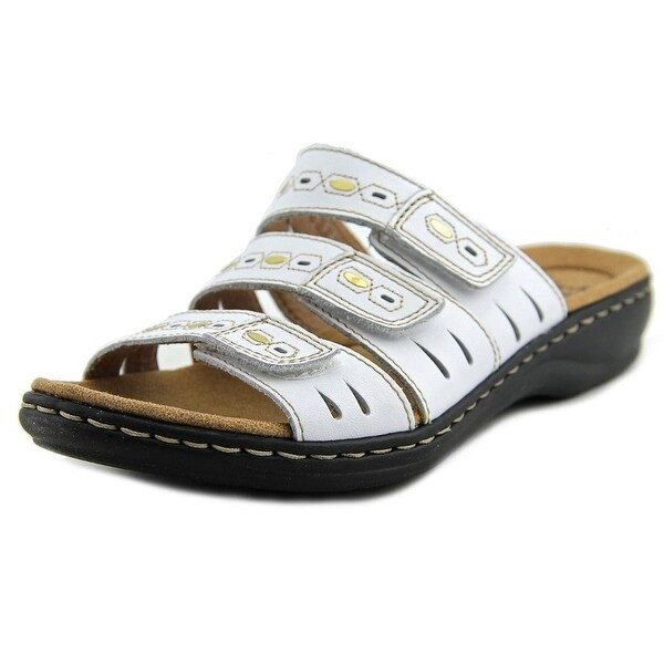 Clarks Narrative Leisa Broach Women  Open Toe Leather  Slides Sandal