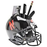 Nebraska Cornhuskers Black NCAA Football Schutt Mini Helmet Desk Caddy