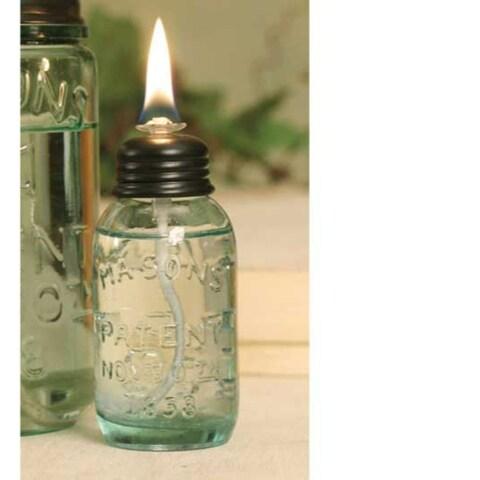 Miniature Mason Jar Oil Lamp -6Pack
