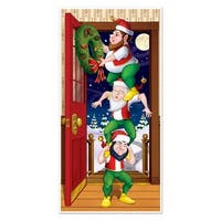 Club Pack of 12 Winter Wonderland Themed Christmas Elves Door Cover Party Decorations 5' - Multi