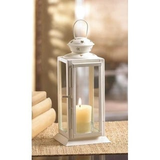 White Colonial Rectangle Lantern