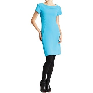 Rachel Roy Womens Wear to Work Dress Seamed Cap Sleeves - 8