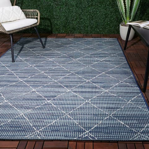 The Curated Nomad Stapelles Geometric Indoor/Outdoor Area Rug